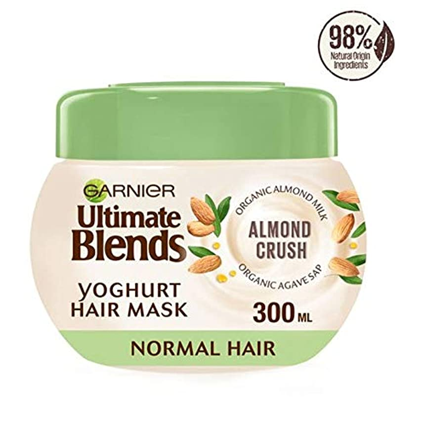 メドレー問い合わせる経済[Ultimate Blends] ガルニエ究極はアーモンドミルクマスクノーマルヘア300ミリリットルをブレンド - Garnier Ultimate Blends Almond Milk Mask Normal Hair 300Ml [並行輸入品]