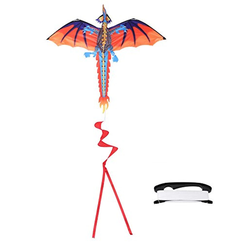 gloglow 3dドラゴンカイトアウトドアFlying Kiteグライダー子供大人用スポーツトイfor Spring Summer Present