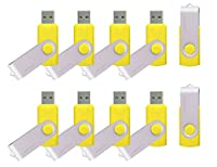 mosDART 16GB 10pack Bulk USB 2.0 Flash Drives Swivel Design Thumb Drives,Yellow 10Pcs [並行輸入品]