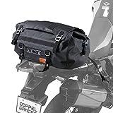 ドッペルギャンガー(DOPPELGANGER) ターポリンツーリングドラムバッグ 【バイク専用の防水ツーリングバッグ】 容量30L 専用固定ベルト・ショルダーベルト付き DBT511-BK