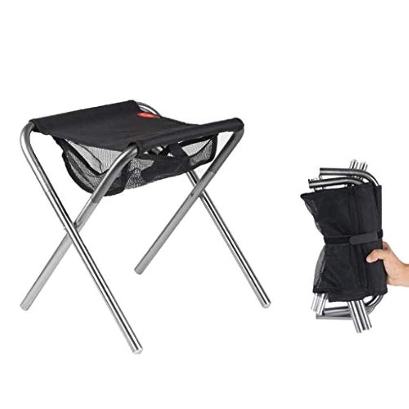 WJMYYX キャンプスツールヘビーデューティハイキング折りたたみ椅子シート軽量折りたたみスツール折りたたみ式釣りスツール理想的なポータブルトラベルチェア (Color : Silver)