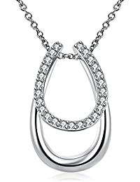 lureme ファッションスタイルのシルバーメッキ単純な幾何学的ペンダントネックレス(01003759)