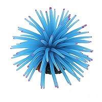 SODIAL(R) 青いシリコンミニイソギンチャクオーナメント 水槽用