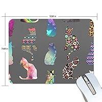 マウスパッド 猫の影 ゲーミングマウスパッド 滑り止め 19 X 25 厚い 耐久性に優れ おしゃれ
