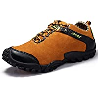 PANFU-AU OX Suede Leather Lightweight Personality Stitching Athletic Shoes for Men Sports Shoes Lace Up Style