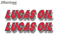 """2Lucas Oil 9"""" Vinyl Racingグラフィックスステッカーデカール車燃料スタビライザーAdditiveデカールステッカー"""