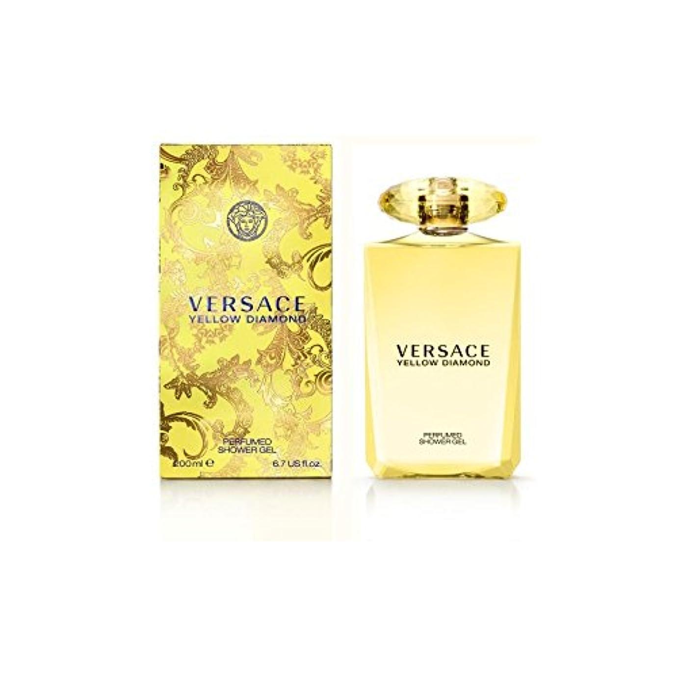 ヴェルサーチ黄色のダイヤモンドバス&シャワージェル200 x4 - Versace Yellow Diamond Bath & Shower Gel 200ml (Pack of 4) [並行輸入品]