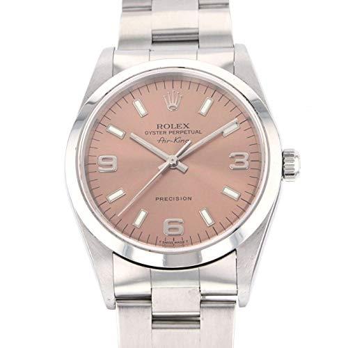 [ロレックス] ROLEX エアキング 腕時計 ウォッチ シルバー×ブルー ステンレススチール(SS) 14000 [中古]