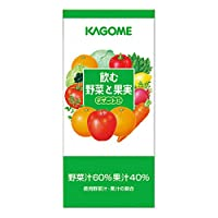 カゴメ 飲む野菜と果実 デザートに 1L×6本