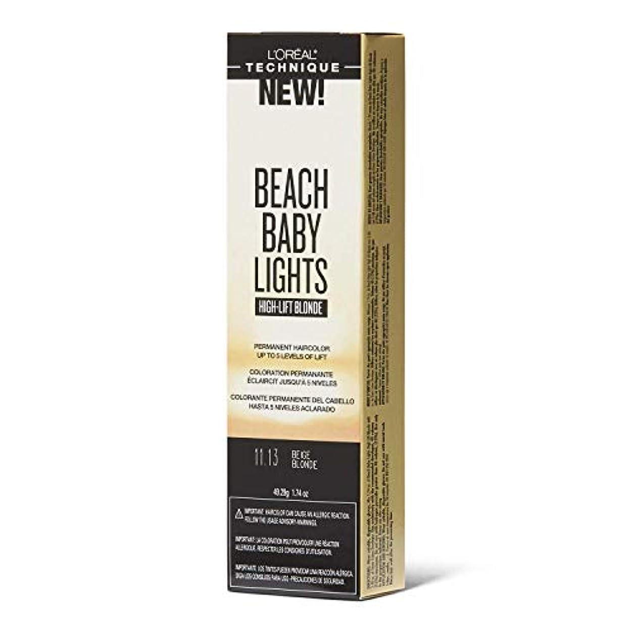 インド頭痛支配的L'Oreal Paris L'Orealのビーチ赤ちゃんライトハイリフトベージュブロンド11.13ベージュブロンド