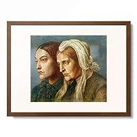 ダンテ・ゲイブリエル・ロセッティ Dante Gabriel Rossetti 「Christina Georgina Rossetti with her mother Frances Mary Lavinia Rossetti」 額装アート作品