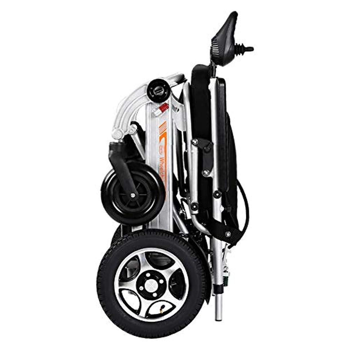 結核ピット包囲電動車椅子、折り畳み電動車椅子、ただ2秒で折りたたみ可能 軽量 360°ジョイスティック、電動ドライブ、または手動車椅子としての使用(リチウムイオン電池)
