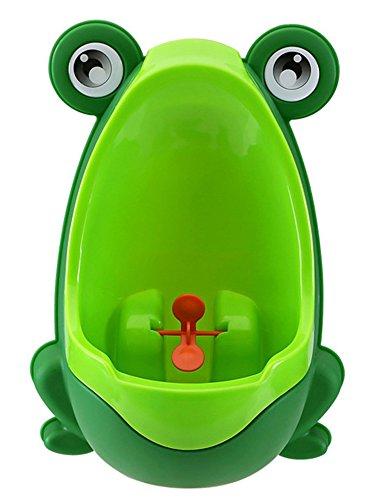 立ってする トイレトレーニング 可愛いカエル型 小便器 男の子用 おまる 男児 おまる便器 取り付け 使い方 簡単 トイレ 練習 赤ちゃん 子供 (グリーン)