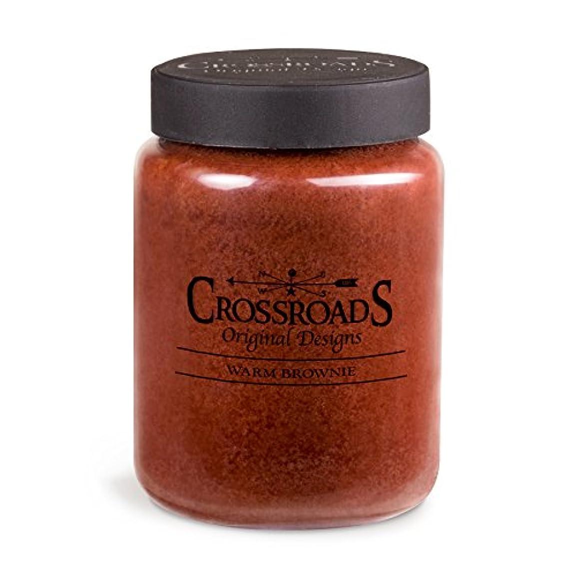 製造業計画平凡Crossroads Warm Brownie香りつき2-wick Candle、26オンス
