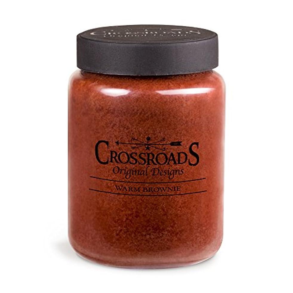 取り替えるブームカウントアップCrossroads Warm Brownie香りつき2-wick Candle、26オンス