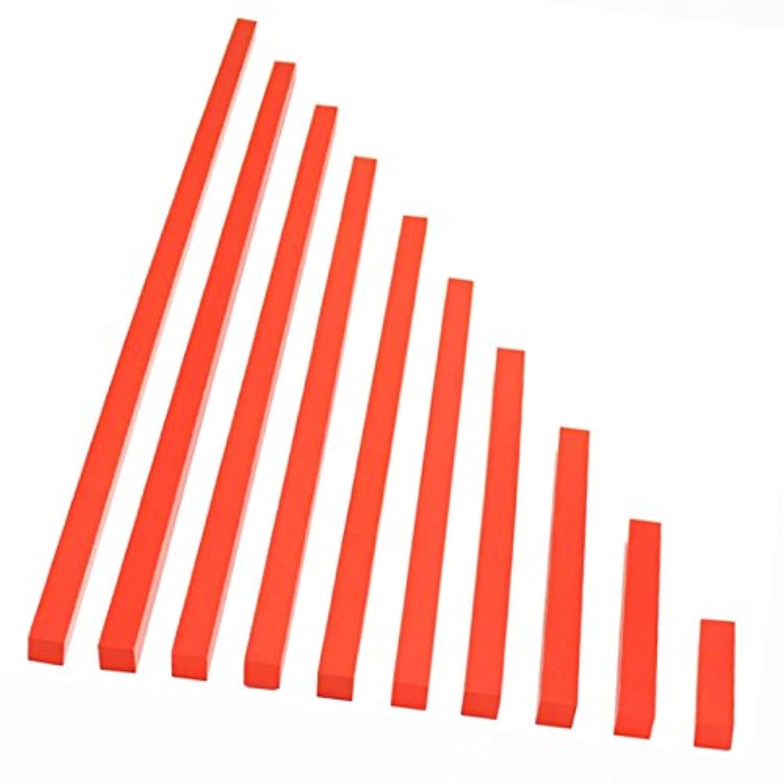 【MONTE Kids】モンテッソーリ教具 -- 赤い棒 大 教材用サイズ -- Montessori 知育玩具教具 幼児早期教育 モンテキッズ 本格教材 算数 おもちゃ -- 赤い棒 大