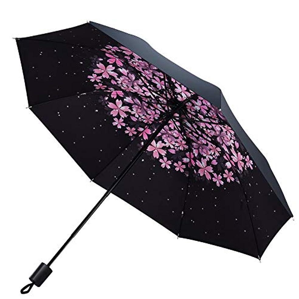 降ろす単語円周ポータブル折り畳み傘サンプロテクション傘、桜A