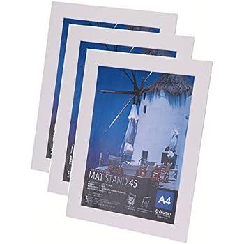 Chikuma フォトフレーム マットスタンド45 A4 ホワイト 3冊セット 30143-1