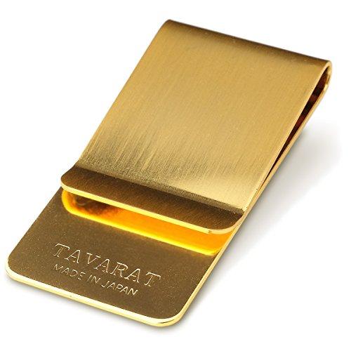 (タバラット)TAVARAT 日本製 マネークリップ 真鍮製 (ゴールドサテーナ) Tps-006_gs