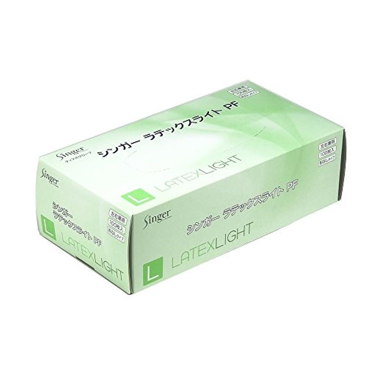 雄弁な急速なあなたは宇都宮製作 ディスポ手袋 シンガーラテックスライトPF ナチュラル 100枚入  L
