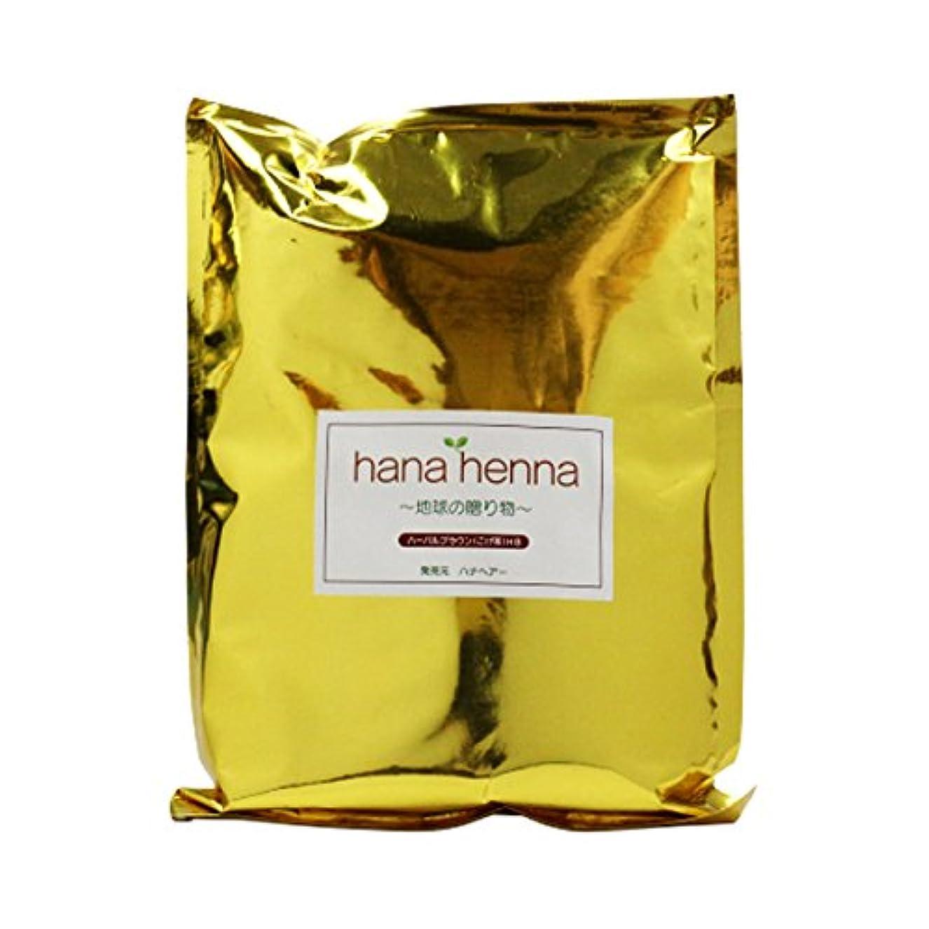 付添人ひどく火山のhanahenna ハーバルブラウン HB(こげ茶) 500g
