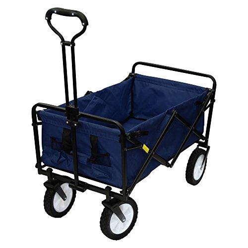 MERMONT キャリーワゴン キャリーカート 折りたたみ式 カート 耐荷重80kg アウトドア 紺 ネイビー