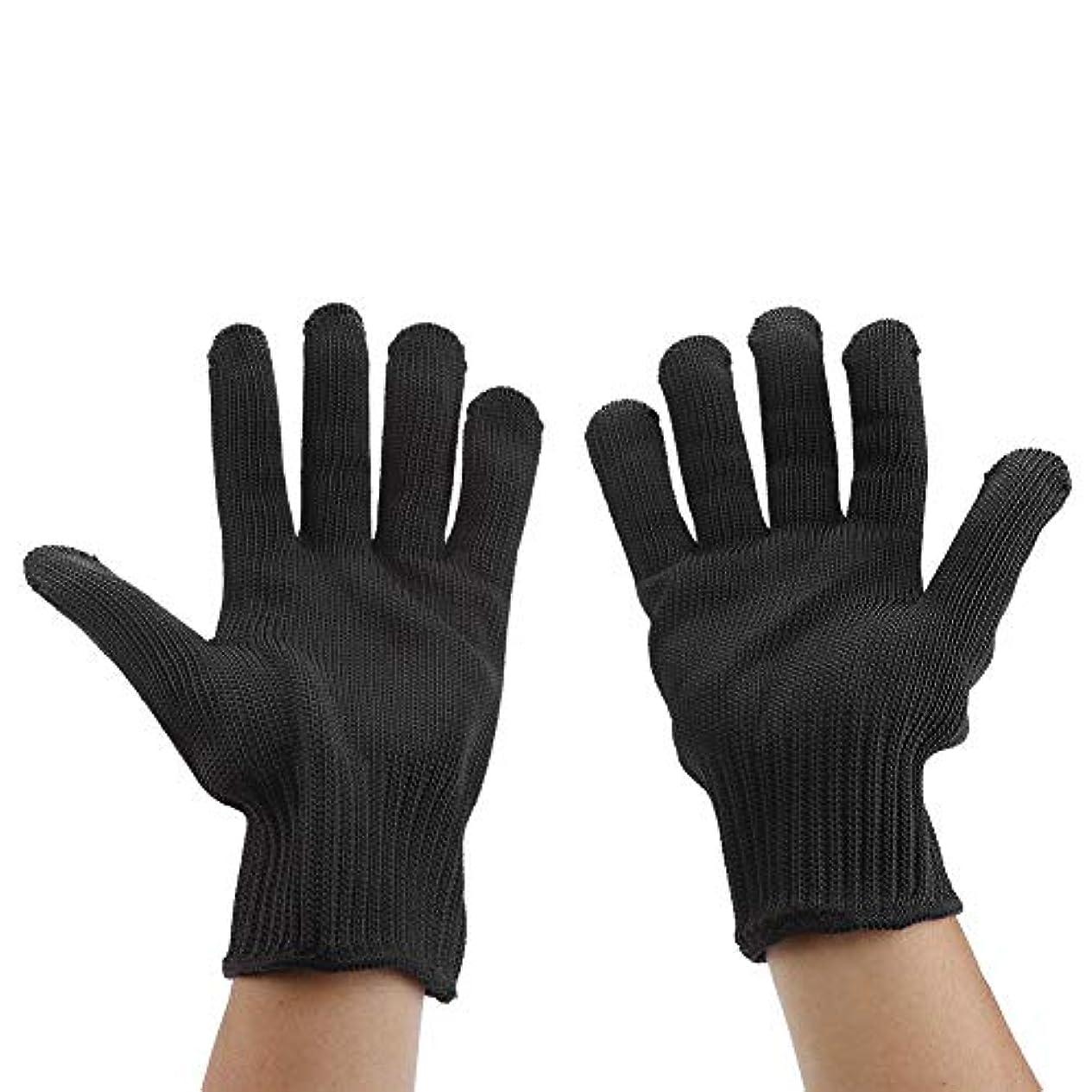 手首トリップ不愉快にカット耐性手袋、食品等級レベル5保護、台所用安全性カット手袋、マンドリンスライス、魚切り身、オイスターシャック、肉切りと木彫り(1ペア)(#3)