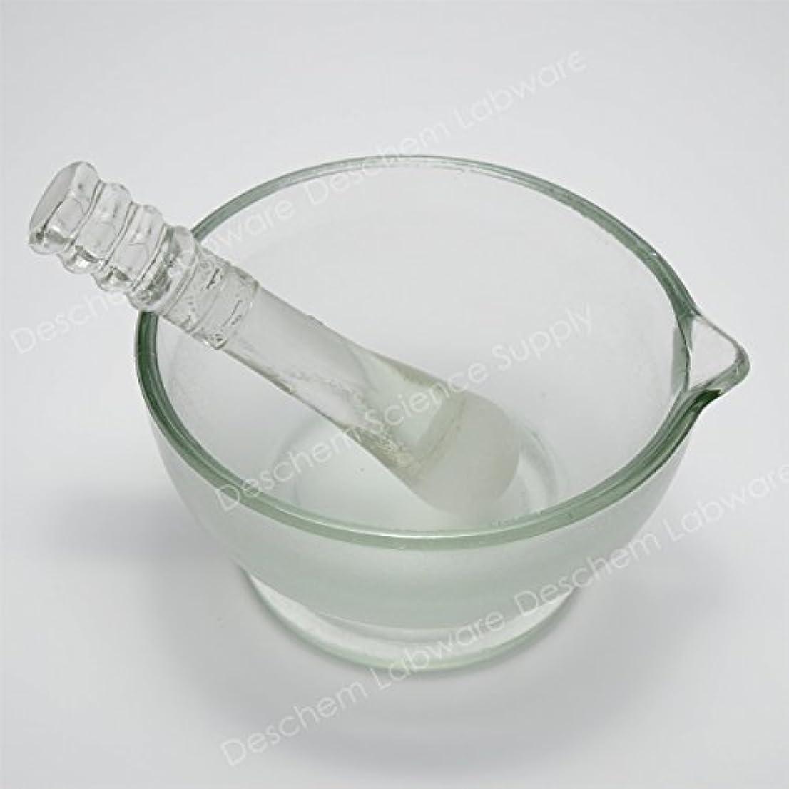 イヤホンサイト買うDeschem 120mm 硼珪酸ガラス 乳鉢 棒付 YB-120