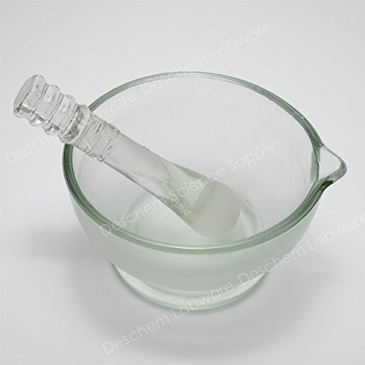 援助する蛇行カレンダーDeschem 120mm 硼珪酸ガラス 乳鉢 棒付 YB-120