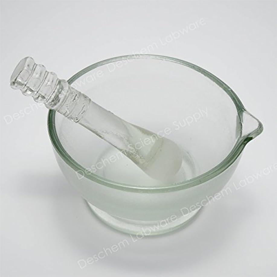 種をまくケーキスパイラルDeschem 120mm 硼珪酸ガラス 乳鉢 棒付 YB-120