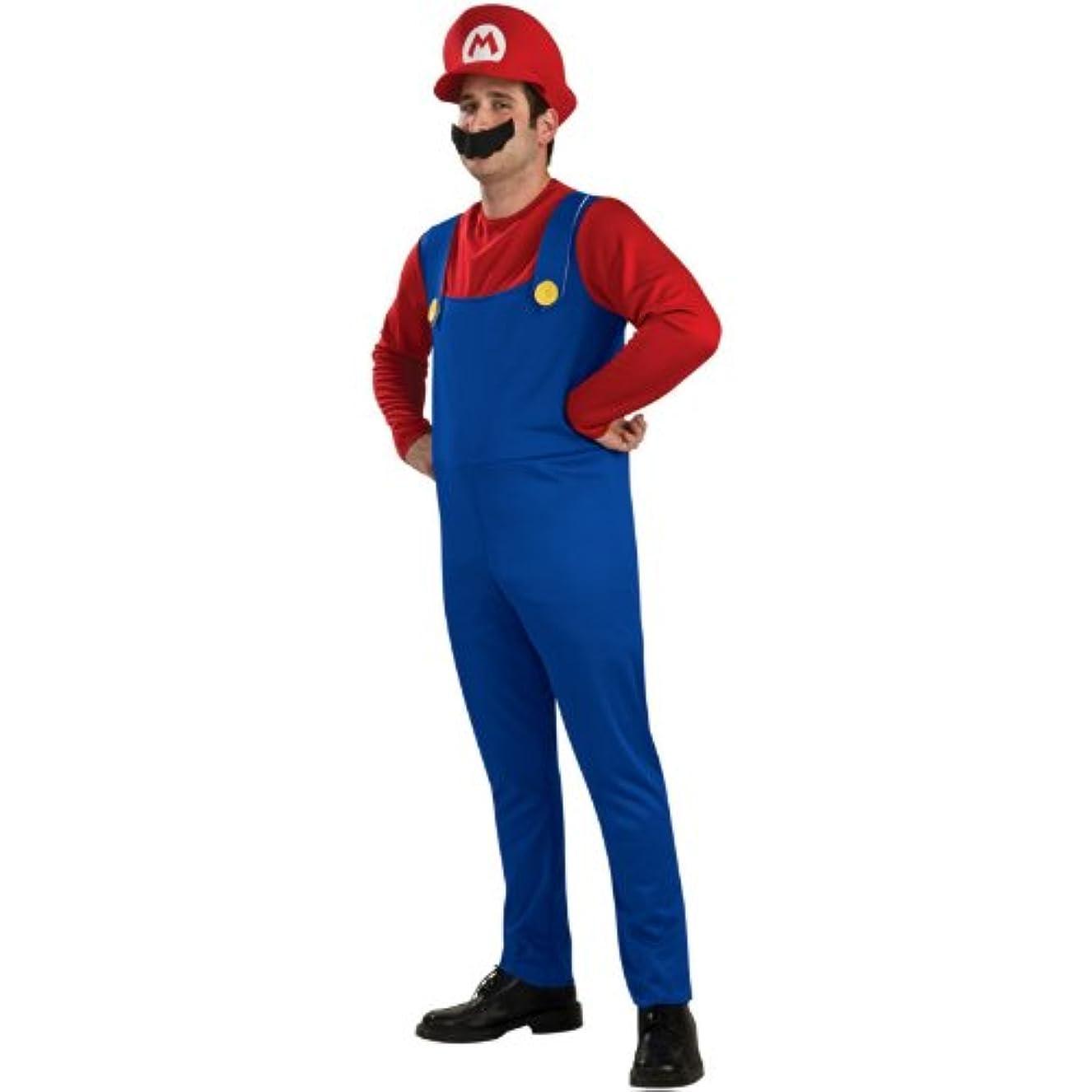 面白い音声学歩き回るMario Adult Costume マリオ大人用コスチューム?ハロウィン?サイズ:Small
