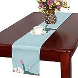 GGSXD テーブルランナー 面白い 猫 クロス 食卓カバー 麻綿製 欧米 おしゃれ 16 Inch X 72 Inch (40cm X 182cm) キッチン ダイニング ホーム デコレーション モダン リビング 洗える