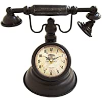 アンティーク電話風 置き時計 (ラウンド) MJH0610