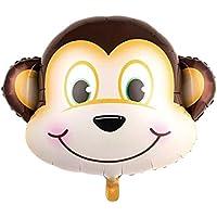 風船 バルーン 子供おもちゃ ヘリウム ミニ ゼブラ 猿 動物頭