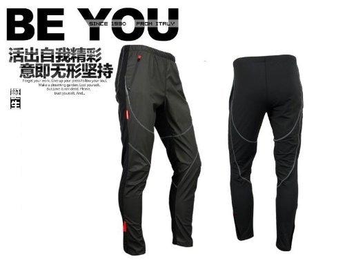 SANTIC サンティック サイクリング フリース サーマル ウインド パンツ 冬 パンツ タイツ ジェームス ブラック (L)