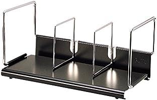 プラス 本立 B型 M 間口47cm 本立仕切棒スライド式:2本 89-267 ブラック