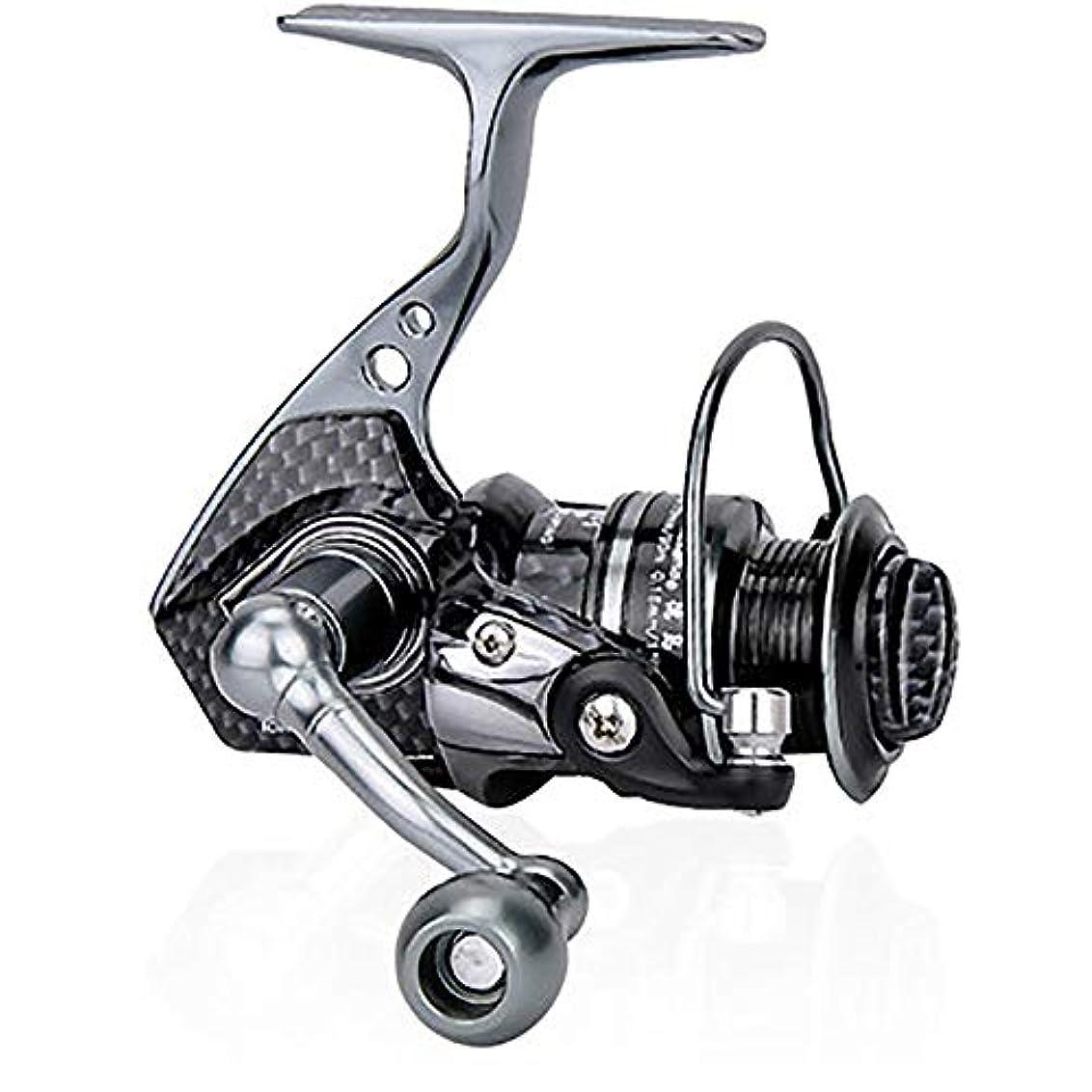 魅了する昼寝迷路釣り用リール 夏およびCentronの回転リール軽量の超滑らかで強力な小型 海釣り用リール (Color : Black, Size : 500)