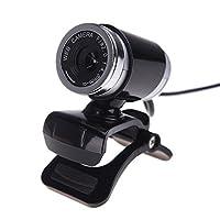 Docooler USB 2.012メガピクセルのHDカメラWeb Camマイク付きクリップ式360度デスクトップSkypeコンピュータPCラップトップ YTA603