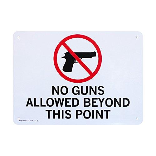 プラスチックメッセージサインボード NO GUNS CA-70 銃規制区域 アメリカ雑貨 看板 店舗装飾