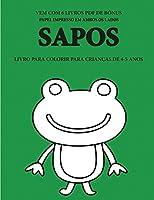 Livro para colorir para crianças de 4-5 anos (Sapos): Este livro tem 40 páginas coloridas sem stress para reduzir a frustração e melhorar a confiança. Este livro irá ajudar as crianças pequenas a desenvolver o controlo da caneta e a exercitar as suas capa