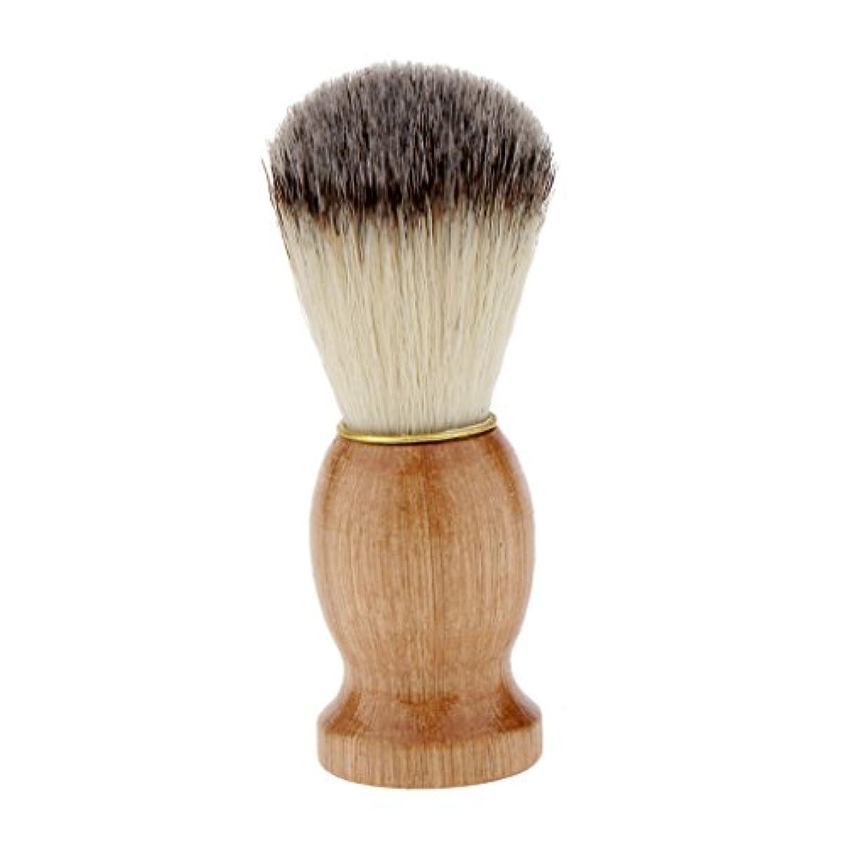 Kesoto シェービングブラシ コスメブラシ 木製ハンドル メンズ ひげ剃りブラシ クレンジング