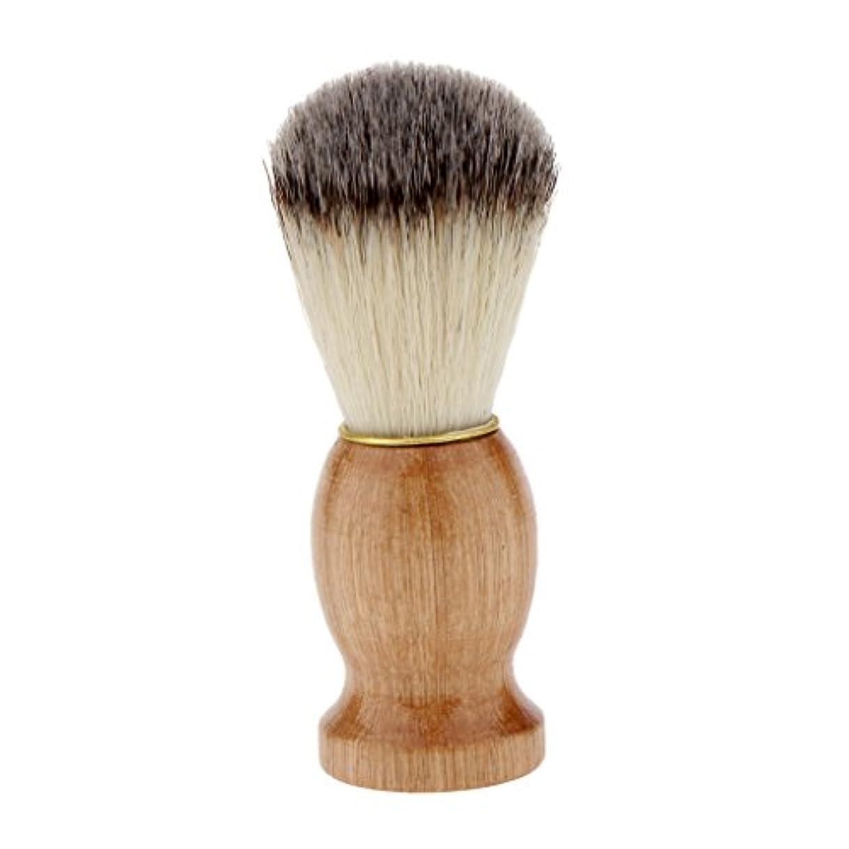 マサッチョ周術期ヘルシーシェービングブラシ コスメブラシ 木製ハンドル メンズ ひげ剃りブラシ クレンジング