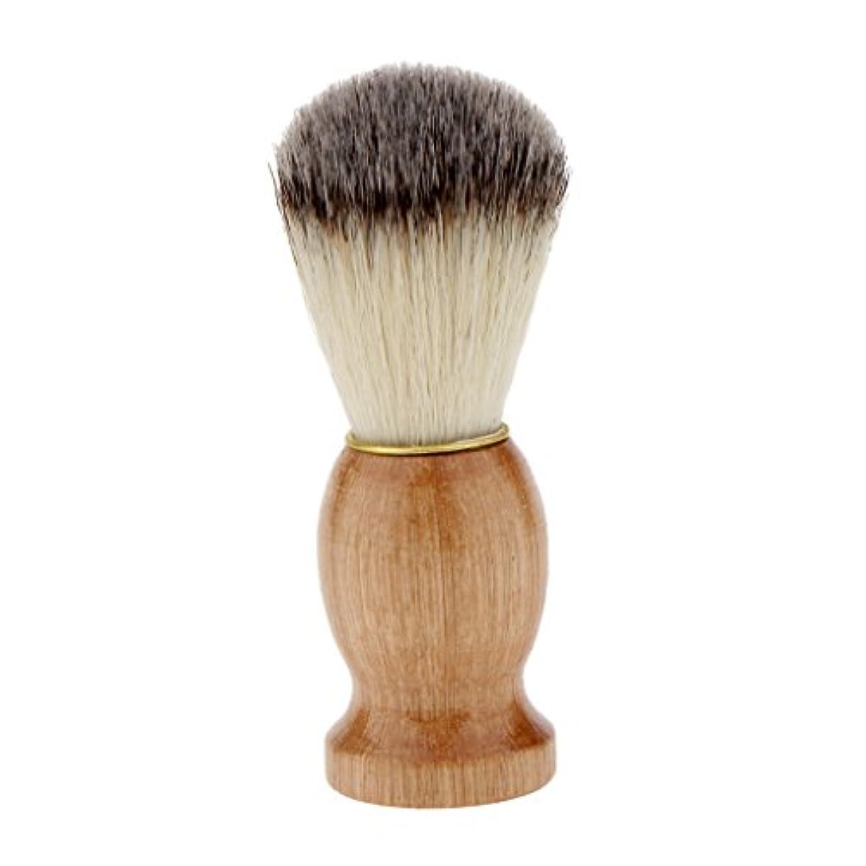 ビスケット免除許すKesoto シェービングブラシ コスメブラシ 木製ハンドル メンズ ひげ剃りブラシ クレンジング