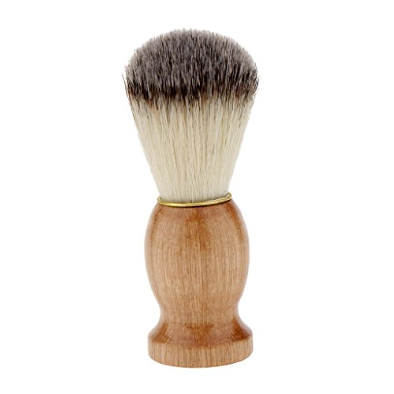 四半期ドラッグ表向きシェービングブラシ コスメブラシ 木製ハンドル メンズ ひげ剃りブラシ クレンジング