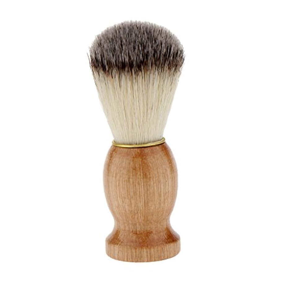 毛皮記念きれいにシェービングブラシ コスメブラシ 木製ハンドル メンズ ひげ剃りブラシ クレンジング
