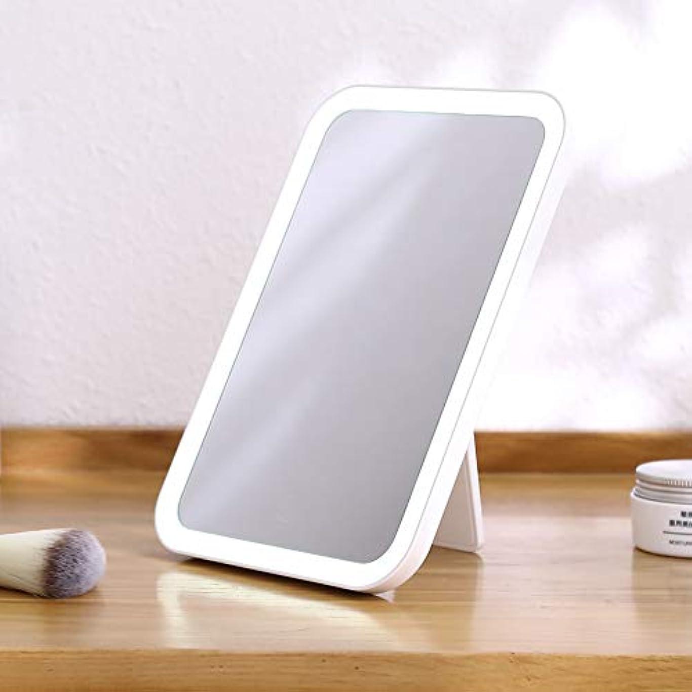 ぼかし男性召集するBEZOX LED化粧鏡 化粧ミラー 鏡 USB充電式 LEDミラー かがみ 14mm 超薄型 卓上ミラー 旅行用