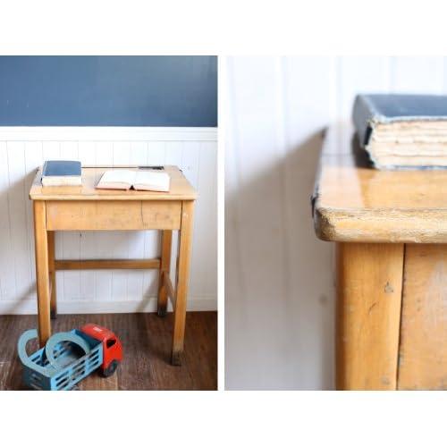 英国(イギリス)アンティーク◇古い木肌のスクールデスク/花台/机/家具雑貨(a1000101)