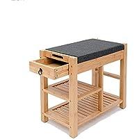 靴のラック竹家庭マルチレイヤーシンプルなリビングルームドアシューラックストレージシューキャビネット靴のベンチを変更する靴のベンチを着用する (サイズ さいず : 55.5 * 30 * 48.5cm-c)