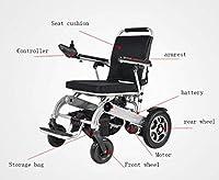 多機能電動車椅子、アルミ合金折りたたみ電動ビンテージスクーター車いす、軽くて速い (色 : 銀)