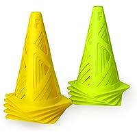 Yapeer マーカーコーン カラーコーン サッカー トレーニング用品 (10個セット)